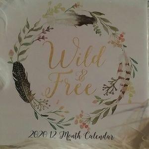 2020 12 Month Calendar Wild n Free Posh Closet Art